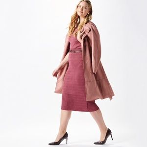 Jackets & Blazers - Blush Crush Faux Suede Belted Trench